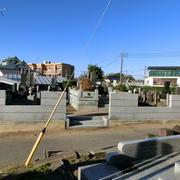 墓地塀 改修工事